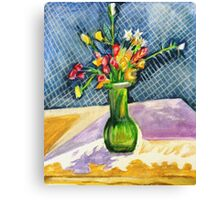 Still Life with Pattern Canvas Print