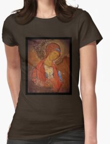 Saint Michael Icon Womens Fitted T-Shirt
