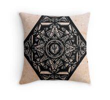 Rhombus on Cardboard Background Throw Pillow