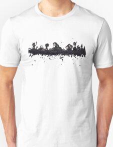 Halloween Town Nightmare Before Christmas Inspired Watercolor Skyline T-Shirt