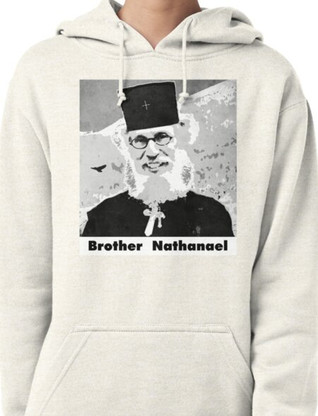 Brother Nathanael with Title Pullover Hoodie