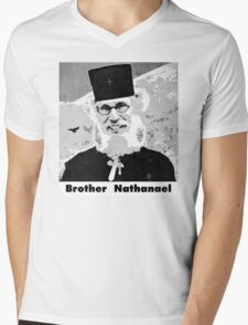 Brother Nathanael with Title Mens V-Neck T-Shirt