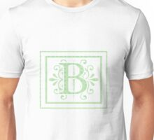 Alphabet Letters - B white background with Frame Unisex T-Shirt