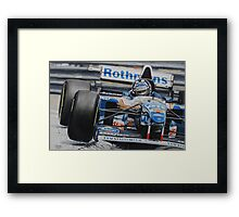 Damon Hill, Williams FW17 Framed Print