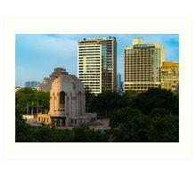 Hyde Park (Sydney): Afternoon Shadows Art Print