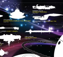 Spaceships by size poster Sticker