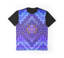 Dreams of Painted Wood, Blue Graphic T-Shirt