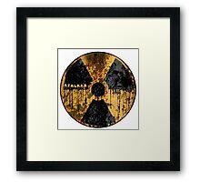 Stalker Radiation Symbol Framed Print