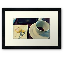 Coffee & Lemon squares Framed Print