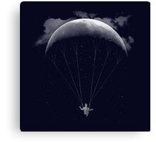 Parachute Moon Canvas Print