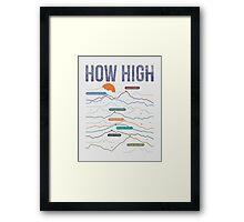 how high Framed Print