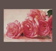 Rosy Elegance - Digital Watercolor  Baby Tee