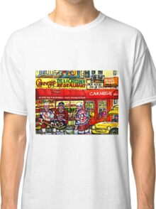 CAARNEGIE'S DELI IN NEW YORK WITH HOCKEY ART Classic T-Shirt