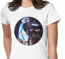 Colonial Woman Spinning Womens Fitted T-Shirt
