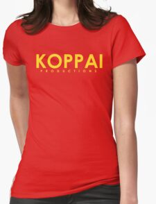 Koppai Productions Text Logo Womens Fitted T-Shirt
