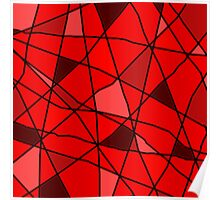 red stained glass Poster