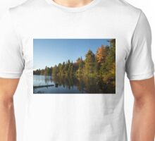 Fall Forest Lake - Reflection Tranquility Unisex T-Shirt