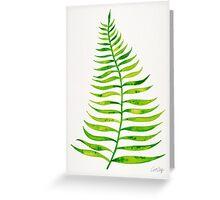 Lime Palm Leaf Greeting Card