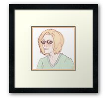 Scully Feat. Sunglasses Framed Print