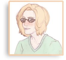 Scully Feat. Sunglasses Metal Print