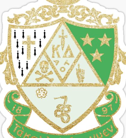 KD Glitter Crest Sticker