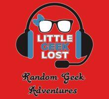 Littlegeeklost Random Adventures Bow Kids Tee