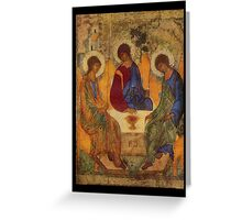Holy Trinity by Rublev Greeting Card
