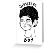 Sensitive Boy Greeting Card