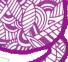 Purple Turtle  Sticker