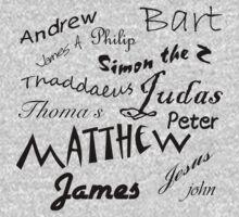 Jesus and apostle Autographs Kids Tee