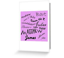 Jesus and apostle Autographs Greeting Card