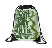 There Are Giants in the Sky! Drawstring Bag