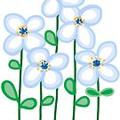 Blue daisies by goanna
