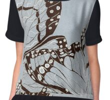 Butterflies in Blue Women's Chiffon Top