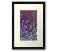 Blue Pixel Framed Print