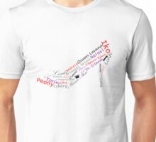 Cinder Word Shoe Unisex T-Shirt
