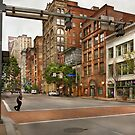 City - Pittsburgh PA - Running late by Mike  Savad