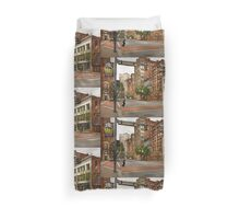 City - Pittsburgh PA - Running late Duvet Cover