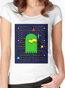 Retro Pac Man Gaming Monster Women's Fitted Scoop T-Shirt