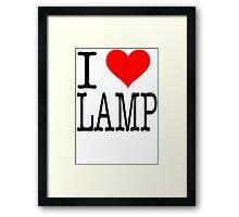 I Love Lamp - Anchorman Framed Print