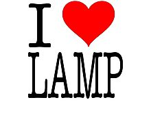 I Love Lamp - Anchorman Photographic Print