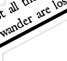 Wanderlust Quote Sticker
