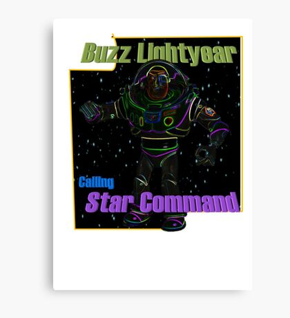 Buzz Lightyear Glowing Space Canvas Print