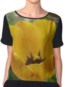 Red and Yellow Tulip Chiffon Top