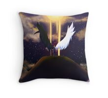 Demon or Angel Throw Pillow