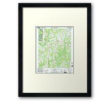 USGS TOPO Map Alabama AL Jones Chapel 304311 2000 24000 Framed Print