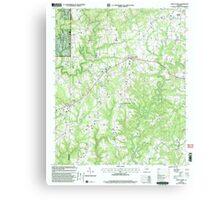 USGS TOPO Map Alabama AL Jones Chapel 304311 2000 24000 Canvas Print