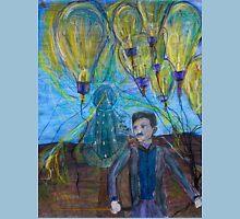 Nikola Tesla Freeing the light bulb balloons Unisex T-Shirt
