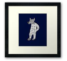 A wolf in sheep's clothing Framed Print