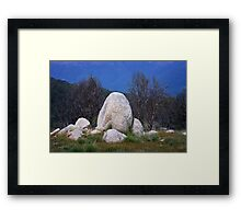 Rock formation - Mt Stirling Framed Print